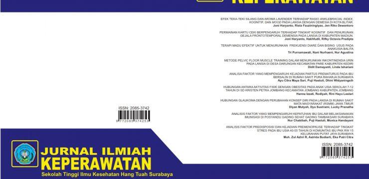 Jurnal Ilmiah Keperawatan STIKES Hang Tuah Surabaya Vol.11 No.1 Edisi Oktober 2016