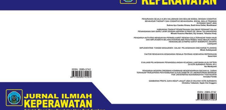 Jurnal Ilmiah Keperawatan Stikes Hang Tuah Surabaya Vol. 10 No.1 Maret 2016