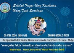 Pengajian online bersama ustadz Nur Fauzi. S.Hum., M.Ag ( 09 Mei 2020, 13.30 WIB)