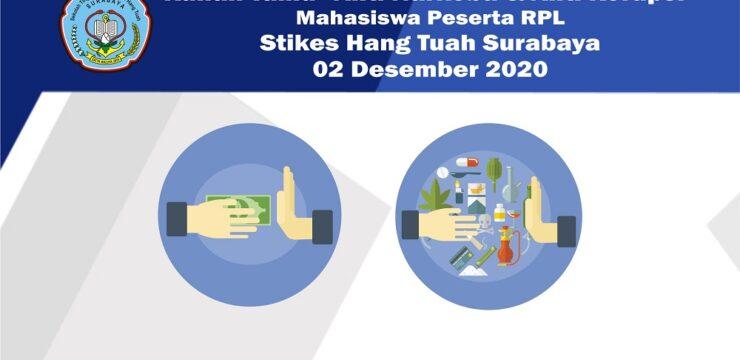 """Kuliah Tamu """"Anti Narkoba & Anti Korupsi"""" Stikes Hang Tuah Surabaya 02 Desember 2020"""